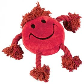 Happy pet happy faces pluche smiley rood (29X26X8 CM)