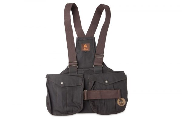 Dummy vest Trainer - Waxed cotton bruin