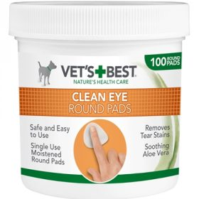 Vets best clean eye round pads (100 ST)