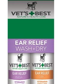 Vets best ear wash & dry combo pack (2X120 ML)