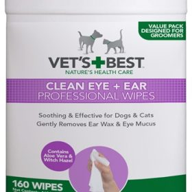 Vets best clean ear / eye wipes hond (160 ST)
